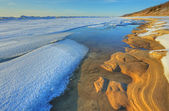 Winter Lake Michigan at Saugatuck Dunes — Stock Photo
