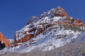 Winter, Kolob Canyons, Zion National Park — Stock Photo