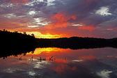 Sunrise Pete's Lake — Stock Photo