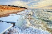 Winter Lake Michigan — Stock Photo