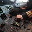 In control cabin — Stock Photo