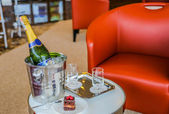 Champagne on Ice — Stock Photo