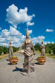 Kazakhstan national Sculpture — Stockfoto
