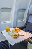 Business Class Airplane Meal — Stock Photo