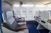 Business class Seating Inside An Airplane — Stock Photo