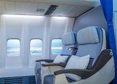 Business jet interior — Stock Photo