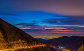 City of Almaty at sunset — Stock Photo