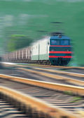 Fast freight train — Stock Photo