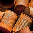 Stock Photo: Rusty Tin Cans