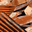 Foto Stock: Rusty Corrugated Metal Heap