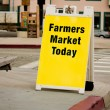 Стоковое фото: Farmers Market Sign - Sandwich Board