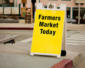 Farmers Market Sign - Sandwich Board — Stock Photo