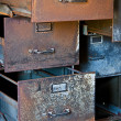 Foto Stock: Rusty Filing Cabinets