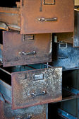 Rusty Filing Cabinets — Stock Photo