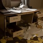 Abandoned Desk — Stock Photo