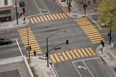 Straat snijpunt — Stockfoto