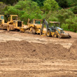 Foto Stock: Earthwork Site and Equipment