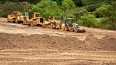 Earthwork Site and Equipment — Stockfoto