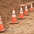 Foto Stock: Construction Cones