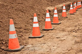 Construction Cones — Stock Photo
