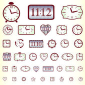 Clock icon set — Stock Vector