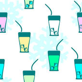 Seamless pattern: drink — Cтоковый вектор