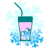 Vector background: cold drinks — Vector de stock