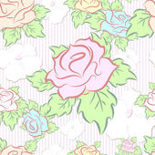 Seamless pattern consisting of flowers, vector — Stock Vector