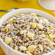 Bowl with cereals for breakfast — Stock Photo