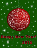 Happy New Year 2013 card. — Stock Photo