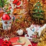 Christmas table arrangement — Stock Photo