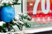 Winter Christmas Sale — Stock Photo