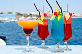 Summer colored fruit cocktail. — Stock Photo