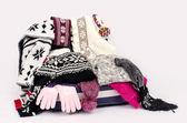 Winter luggage. — Stock Photo