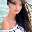 Sexy girl with hair in the wind. — Stock Photo #28321555