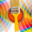 Orange paint and swatches. — Stock Photo