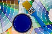 Campione di vernice blu. — Foto Stock