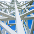 Stock Photo: Close up on white steel tower.