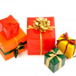 Pile of nicely wrapped presents. — Stockfoto