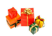 Pile of nicely wrapped presents. — Stock Photo