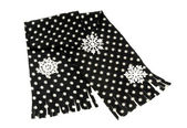 Black scarf with white dots nicely arranged. — Stock Photo