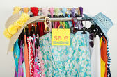 Sale sign for summer clothes. — Stock Photo