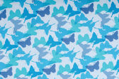 Butterflies pattern. Small blue butterfly print as background. — Stock Photo