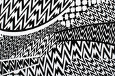 Asymmetric lines pattern. Black and white print as background. — Stock Photo