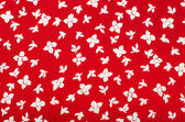 Floral pattern. Red and white flowers print as background. — Stock Photo