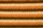 Shades of brown furry striped background. Hairy stripes pattern. — Stock Photo