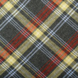 Tartan pattern. Grey with yellow and red plaid print as background. — Stock Photo #50180089