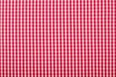 Symmetric square check tablecloth pattern. Red and white little square design as background. — Stock Photo
