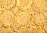 Circles wicker background. Close up on woven rattan pattern. — Stock Photo