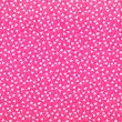 Small fuchsia floral pattern. White tulips and dots print on pink background. — Stockfoto #51304565